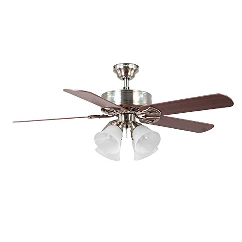 Harbor Breeze Springfield II 52-inch Brushed Nickel Close Mount Fan