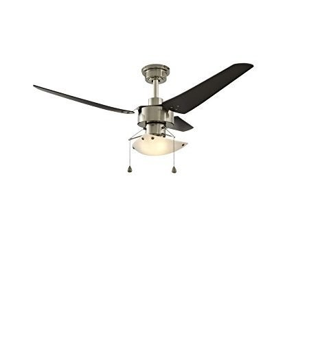 Impact 48-inch Polished Pewter Downrod Mount Fan with Light Kit