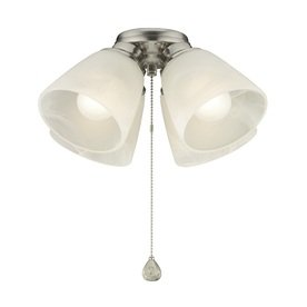 Harbor Breeze 4-Light Brushed Nickel Ceiling Fan Light Kit
