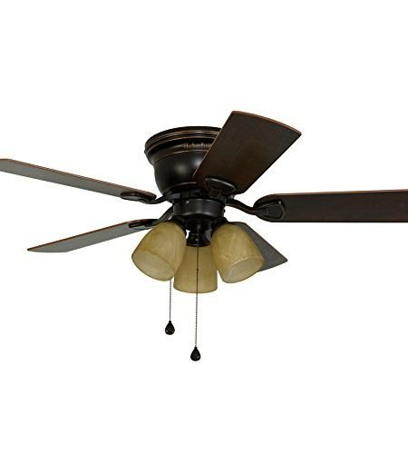 Harbor Breeze Centreville 42-inch Oil-Rubbed Bronze Flush Mount Fan