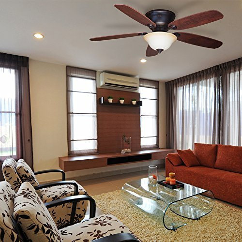Harbor Breeze Pawtucket 52-inch Oil-Rubbed Flush Mount Ceiling Fan