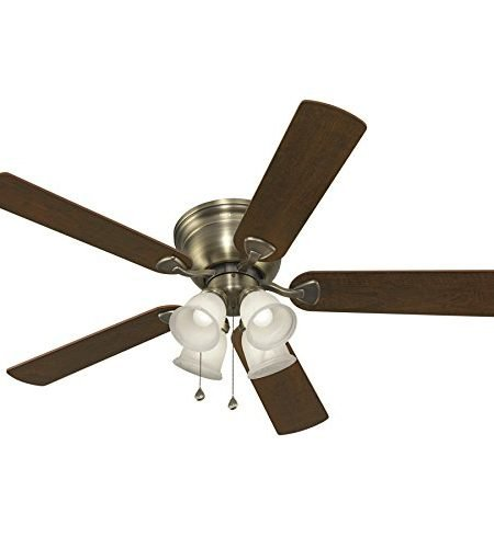 Harbor Breeze Centreville 52-inch Antique Brass Flush Mount Ceiling Fan