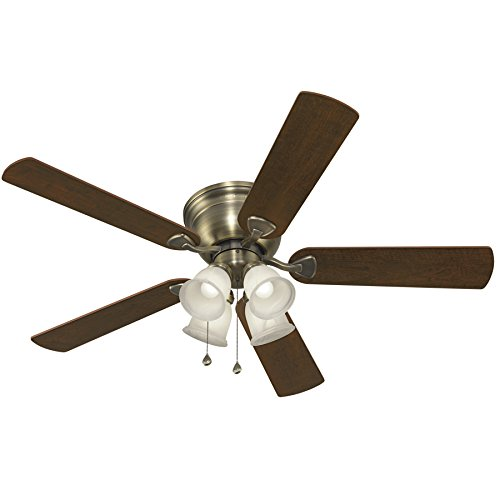 Harbor Breeze Coastal Creek 52 Inch Brushed Nickel Ceiling Fan
