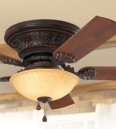 Lynstead 52-in Specialty Bronze Flush Mount Residential Ceiling Fan