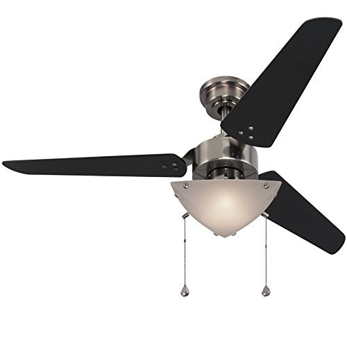 Impact 48 Inch Polished Pewter Downrod Mount Ceiling Fan