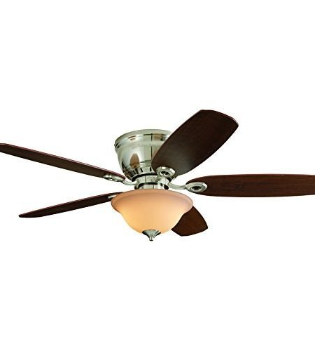 PAWTUCKET 52-inch Brushed Nickel Flush Mount Indoor Ceiling Fan