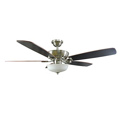 Harbor Breeze Paddle Stream 52-inch Brushed Nickel Indoor Ceiling Fan
