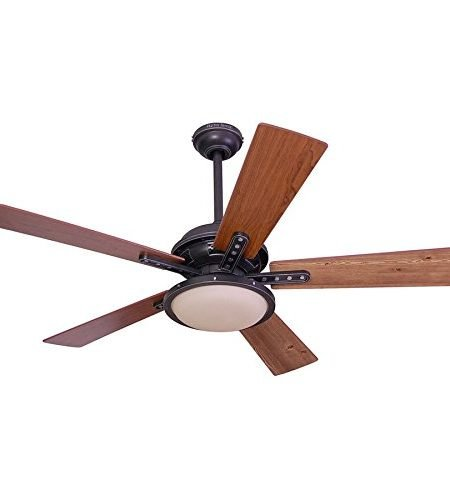 Harbor Breeze Lake Cypress 52-inch Black Iron Close Mount Fan