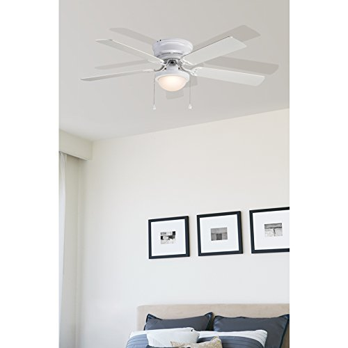 Harbor breeze armitage 52 inch white flush mount ceiling fan mozeypictures Gallery