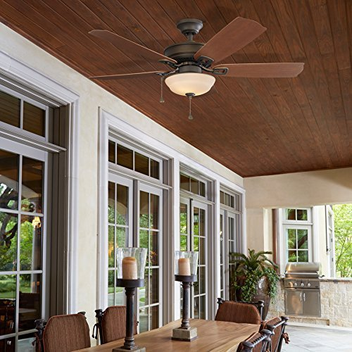 Harbor Breeze Echolake 52-inch Close Mount Indoor Outdoor Ceiling Fan