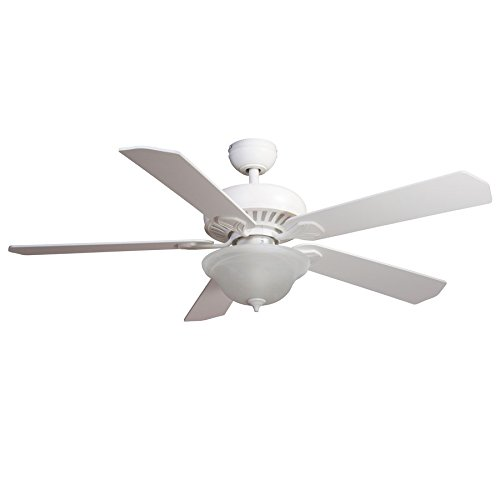 Harbor Breeze Crosswinds 52-inch White Flush Mount Ceiling Fan