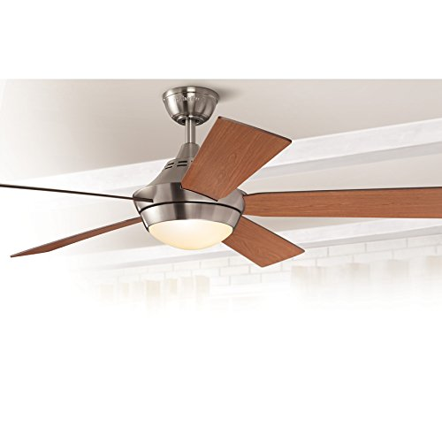Platinum Portes 52-inch Brushed Nickel Downrod Mount Ceiling Fan