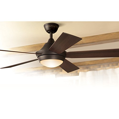 Portes 52 Inch Aged Bronze Downrod Mount Indoor Ceiling Fan