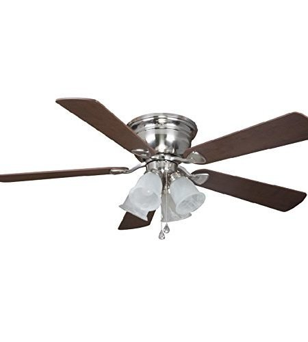 Harbor Breeze Centerville 52-inch Brushed Nickel Flush Mount Fan