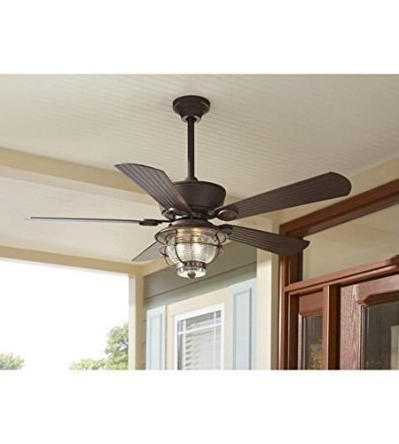 Merrimack 52-inch Antique Bronze Downrod Mount Ceiling Fan