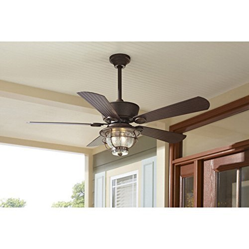 Merrimack 52 Inch Antique Bronze Downrod Mount Ceiling Fan