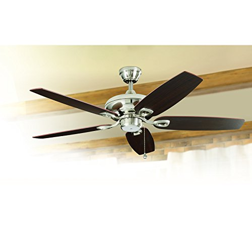 Harbor Breeze COASTAL CREEK 52-inch Brushed Nickel Ceiling Fan