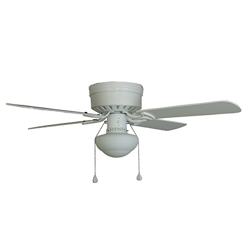 Harbor Breeze Armitage 42-inch White Flush Mount Indoor Ceiling Fan