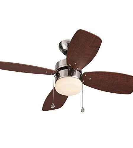 Harbor Breeze 36-inch Brushed Nickel Close Mount Indoor Ceiling Fan