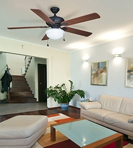 Harbor Breeze Caratuk River 52-inch Bronze Flush Mount Ceiling Fan
