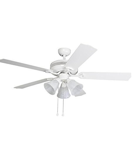 Harbor Breeze Barnstaple Bay 52-inch White Indoor Ceiling Fan