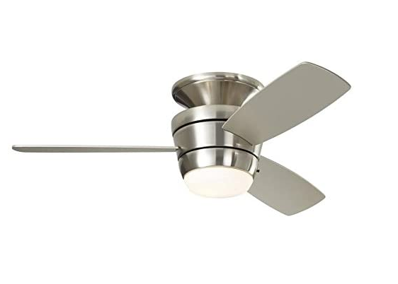 Harbor Breeze Mazon 44 In Brushed Nickel Flush Mount Indoor Ceiling Fan