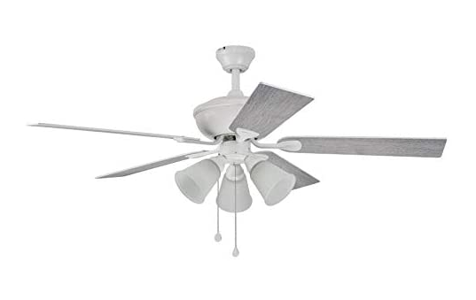 Harbor Breeze Sailor Bay 52 In White Led Indoor Ceiling Fan